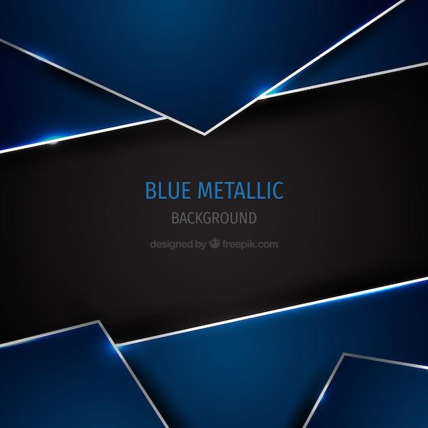 Fond métallique bleu Vecteur gratuit