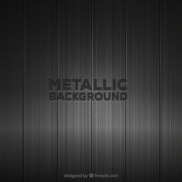 Fond Métallique Noir Vecteur Premium