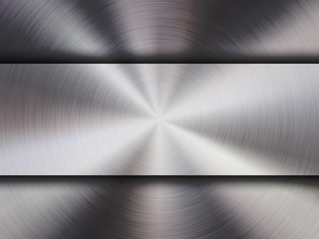 Fond métallique Vecteur Premium