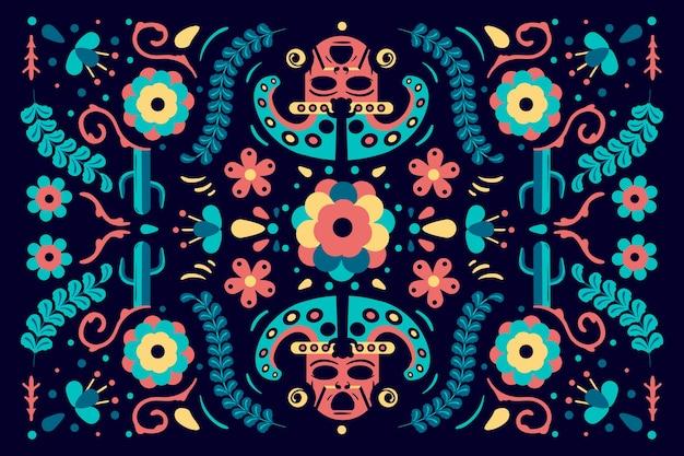 Fond Mexicain Multicolore Vecteur gratuit