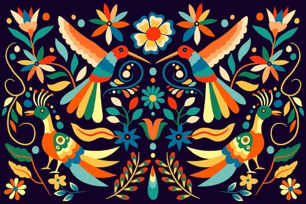 Fond Mexicain Plat Coloré Vecteur gratuit