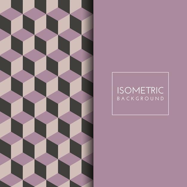 Fond de modèle cube isométrique Vecteur gratuit