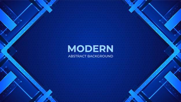 Fond Moderne Abstrait Bleu Avec Des Formes Géométriques Vecteur Premium