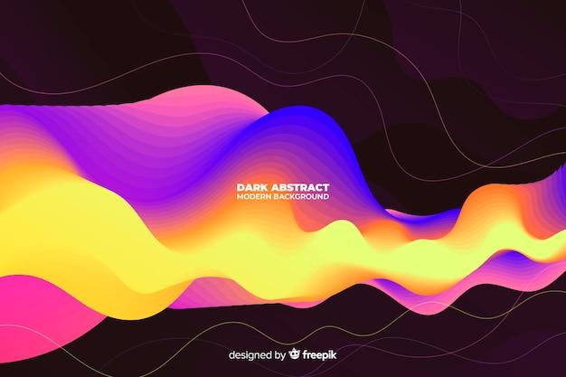 Fond moderne abstrait sombre Vecteur gratuit