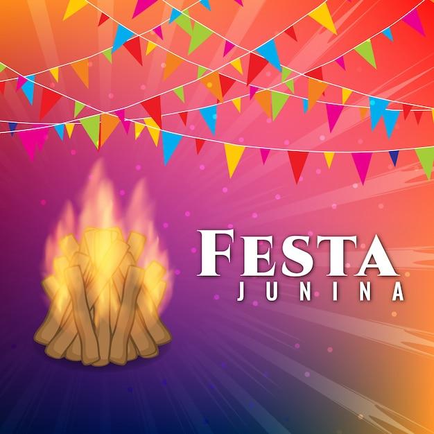 Fond moderne de célébrités de festa junina Vecteur gratuit