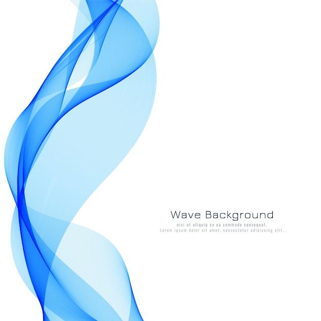Fond moderne élégante vague bleue Vecteur gratuit