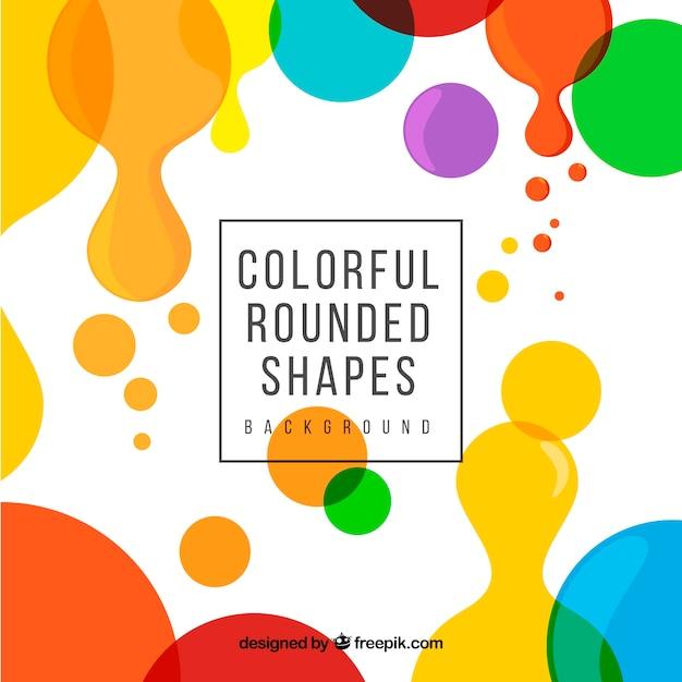 Fond moderne avec des formes arrondies colorées Vecteur gratuit