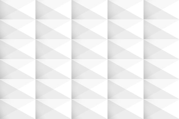 Fond moderne géométrique 3d blanc Vecteur gratuit