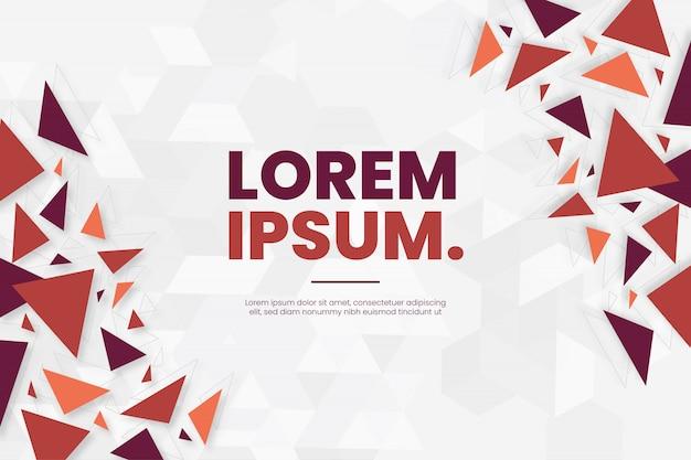 Fond Moderne Avec Modèle De Formes De Polygones Colorés Vecteur gratuit