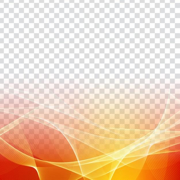 Fond moderne transparent abstrait vague colorée Vecteur Premium