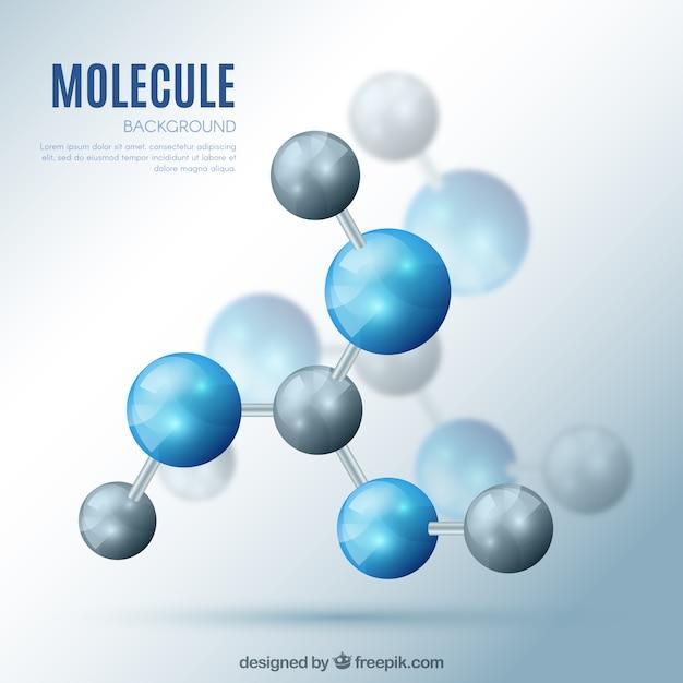 Fond Moléculaire Avec Effet Réaliste Vecteur Premium