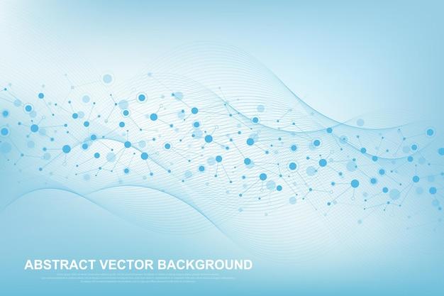 Fond De Molécule Scientifique Pour La Médecine, La Science, La Technologie, La Chimie. Vecteur Premium