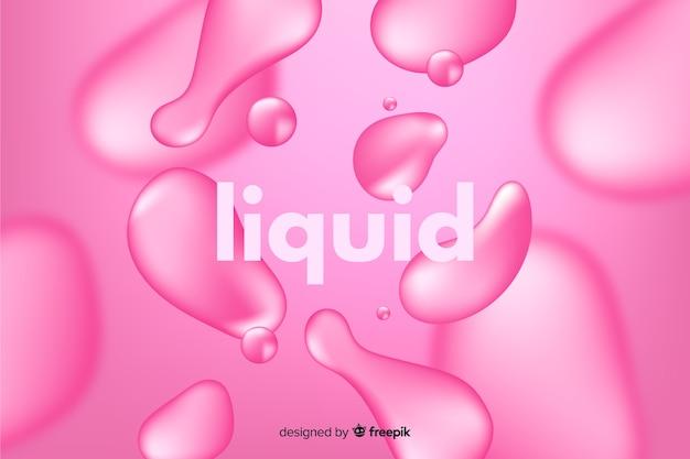 Fond monochrome effet liquide réaliste Vecteur gratuit