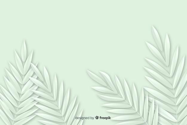 Fond monochrome avec plante Vecteur gratuit