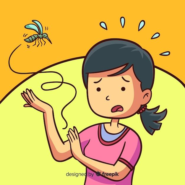Fond de morsure de moustique Vecteur gratuit