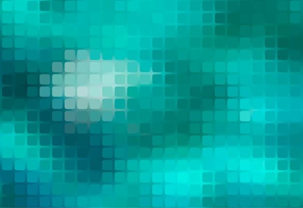 Fond de mosaïque arrondie abstraite vert turquoise Vecteur Premium