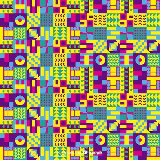Fond De Mosaïque Colorée Avec Des Formes Géométriques Vecteur gratuit