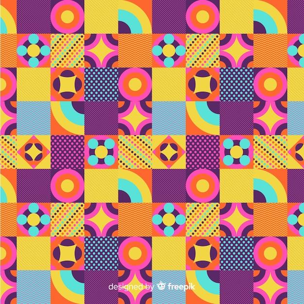 Fond de mosaïque géométrique coloré Vecteur gratuit