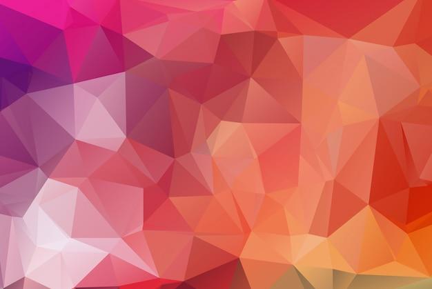 Fond de mosaïque polygonale multi rouge. Vecteur Premium