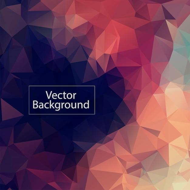 Fond de mosaïque polygonale pastel Vecteur Premium