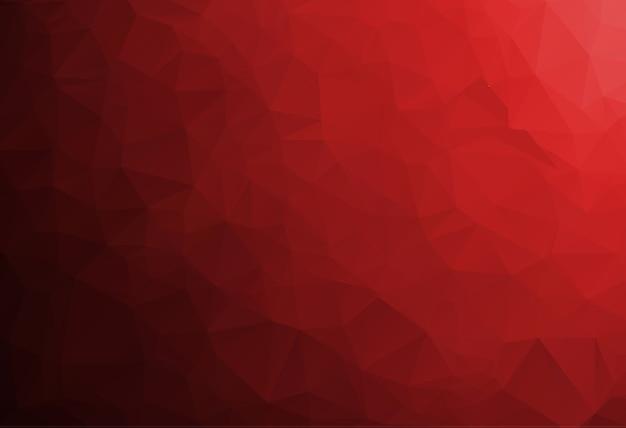 Fond de mosaïque polygonale rouge, modèles de conception créative Vecteur Premium