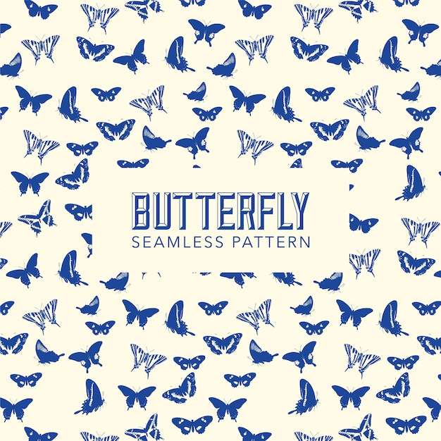 Fond de motif papillon Vecteur gratuit