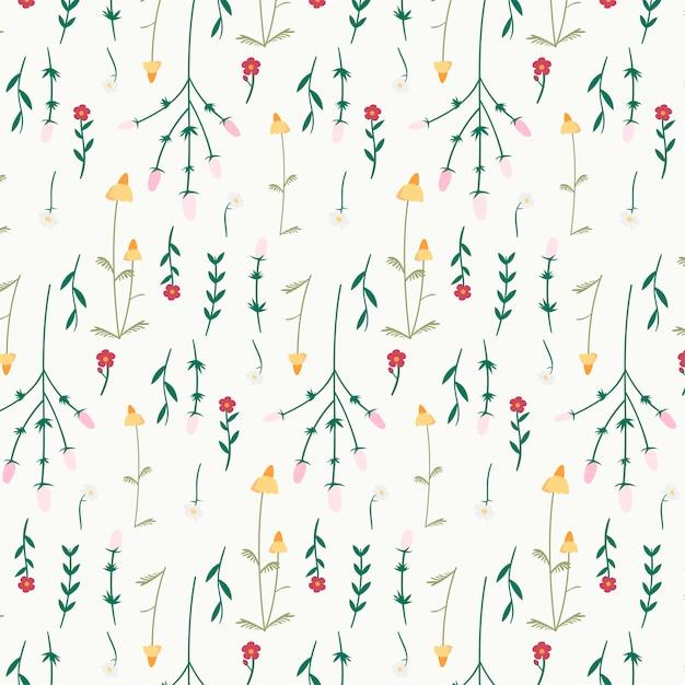 Fond à motifs floraux Vecteur gratuit