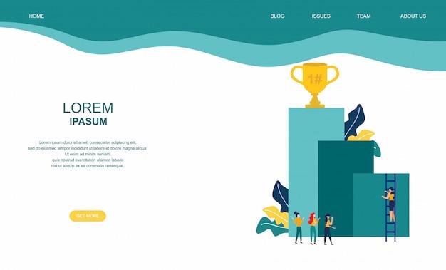 Fond de motivation d'affaires Vecteur Premium