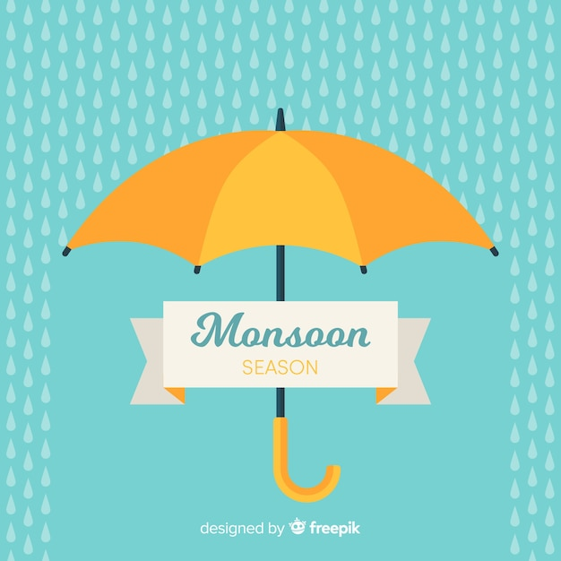 Fond De Mousson Avec Parapluie Vecteur gratuit