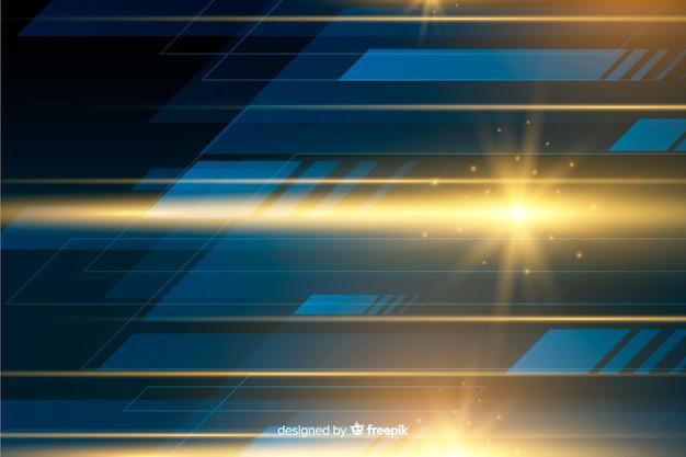 Fond de mouvement léger brillant réaliste Vecteur gratuit