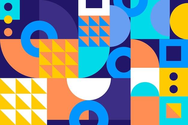 Fond Mural Géométrique Vecteur Premium