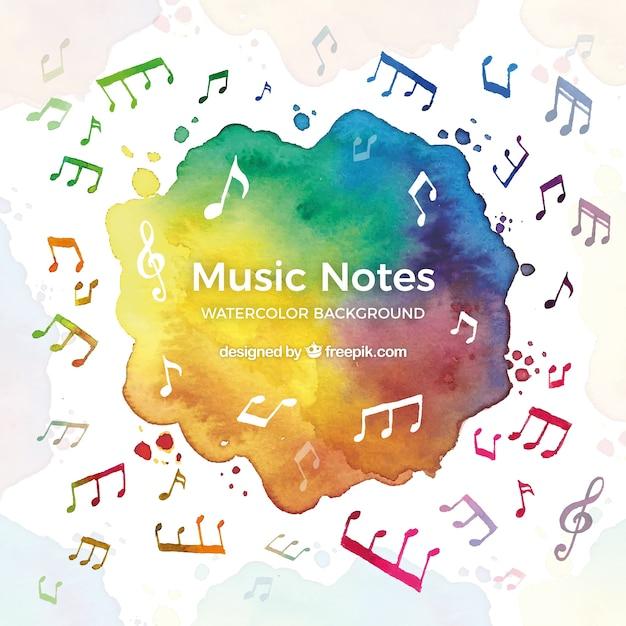Fond musical coloré Vecteur gratuit