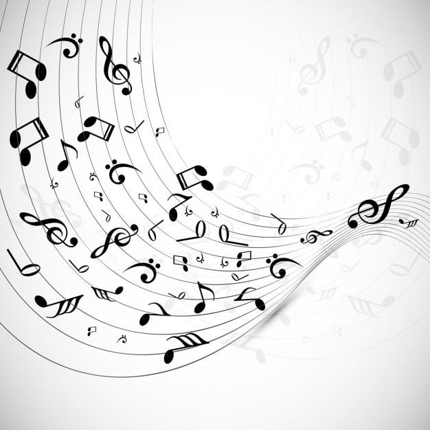 Fond Musical Vecteur gratuit