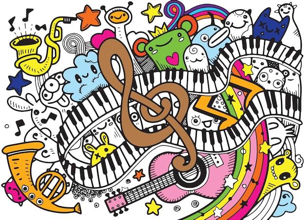 Fond de musique abstraite Vecteur Premium