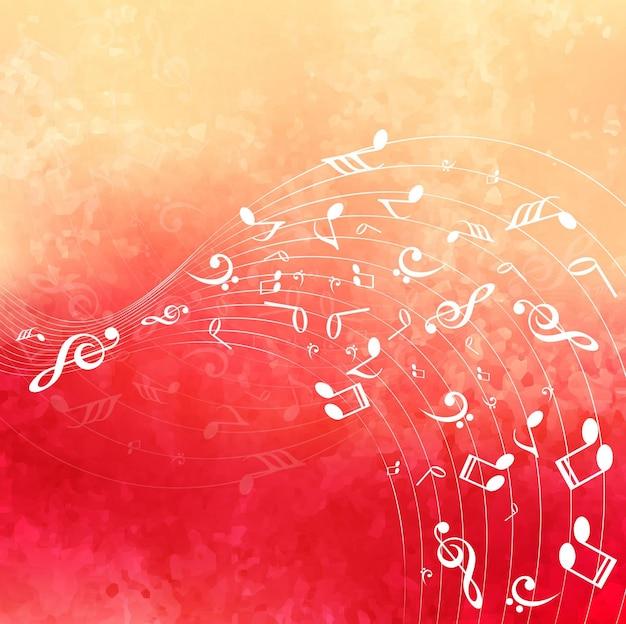 Fond de musique colorée moderne Vecteur gratuit