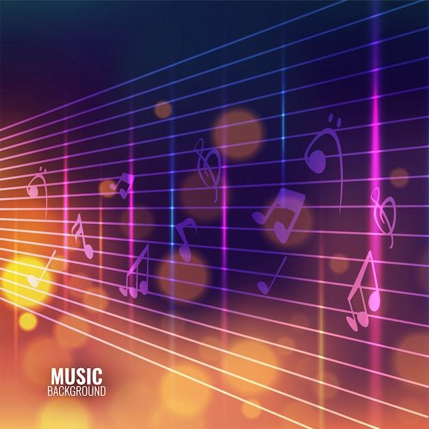 Fond de musique avec des notes de musique. Vecteur Premium