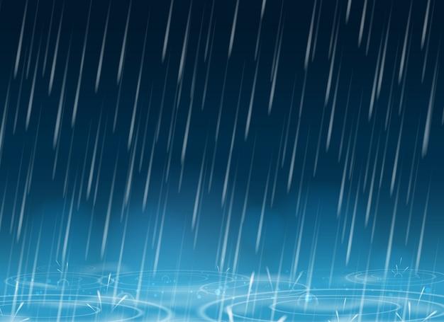 Fond de nature automne bleu météo Vecteur Premium