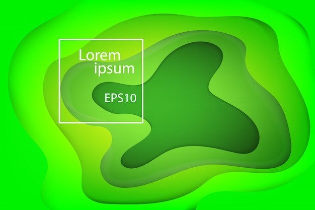 Fond de nature vague et fluide vague verte Vecteur Premium