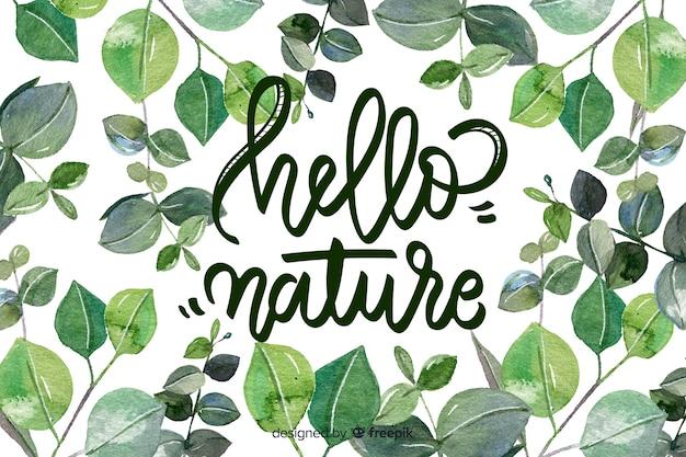 Fond Naturel Avec Citation Vecteur Premium