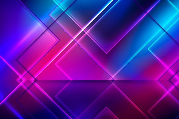 Fond De Néons De Formes Géométriques Vecteur gratuit