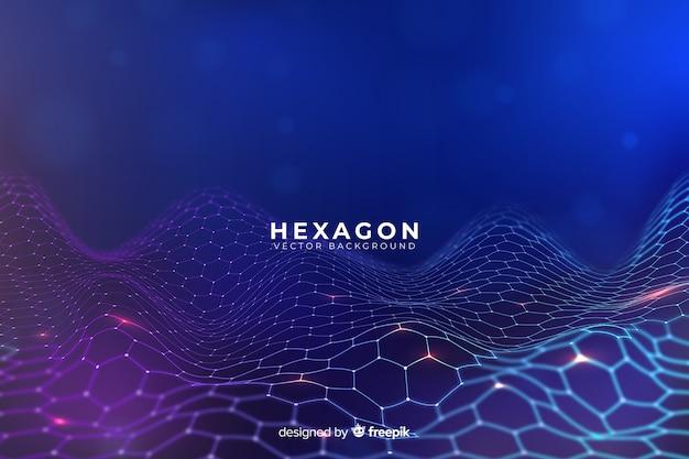 Fond Net Futuriste Hexagonal Vecteur gratuit