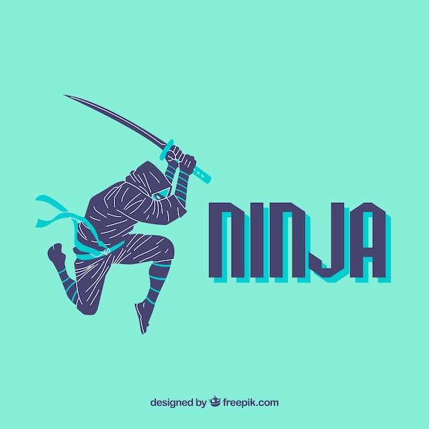 Fond ninja créatif Vecteur gratuit