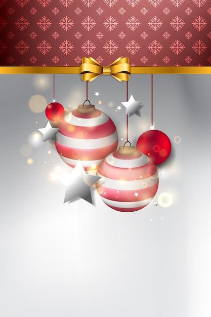 Fond De Noël. Cadre Et Ornement De Noël Vecteur Premium