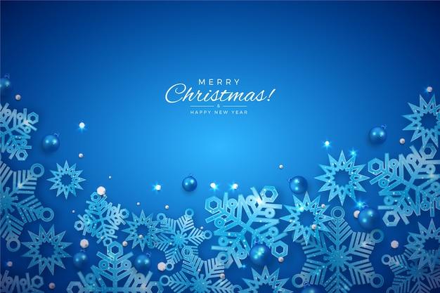 Fond De Noël Avec Effet Scintillant Vecteur gratuit