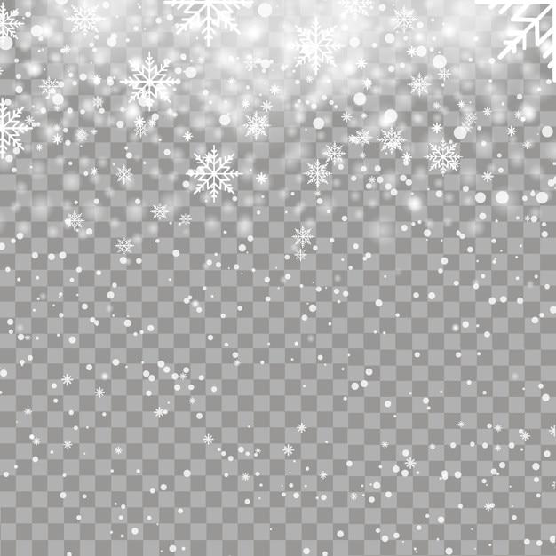 Fond De Noël Avec Des Flocons De Neige Qui Tombent Vecteur