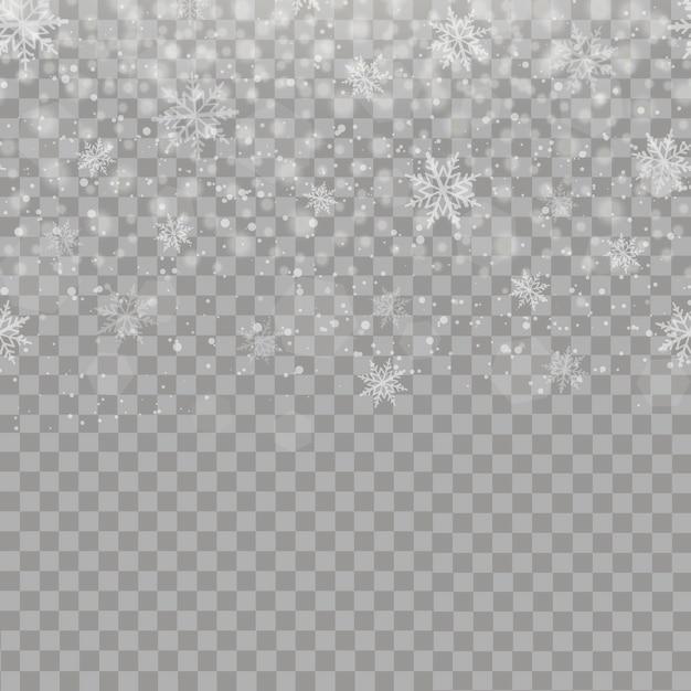 Fond De Noël Avec Des Flocons De Neige Qui Tombent Télécharger