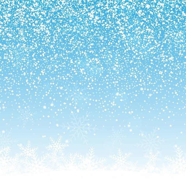 Fond de noël avec des flocons de neige Vecteur gratuit