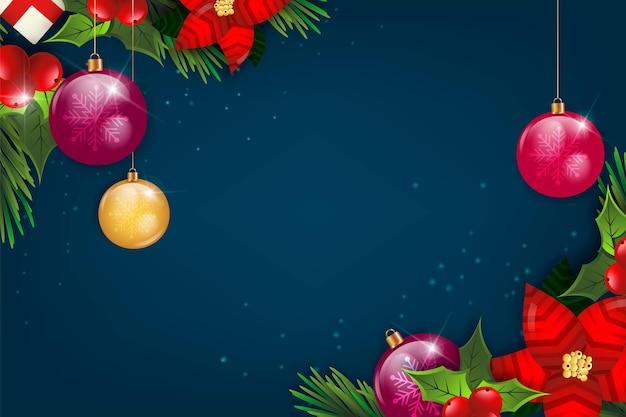 Fond De Noël Réaliste Vecteur gratuit