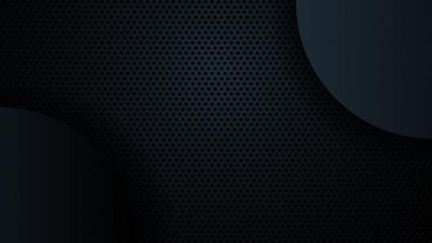 Fond noir chevauchent la dimension abstraite géométrique moderne. Vecteur Premium