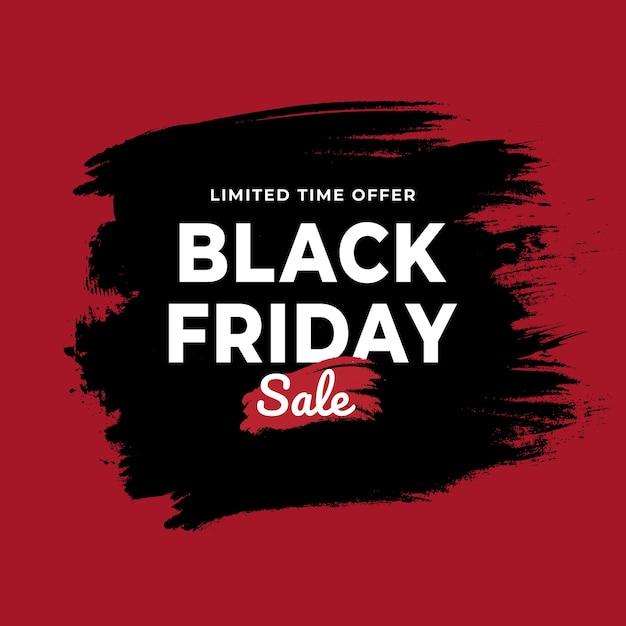 Fond noir grunge vente vendredi Vecteur Premium